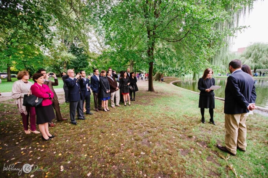 Nancy And Roberto S Boston Public Garden Civil Ceremony Bethany Dan Photography
