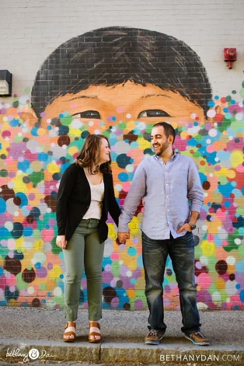 Waltham MA Engagement Photo