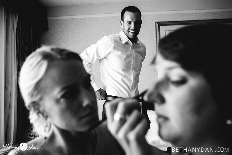 The Groom getting ready in Portland Maine