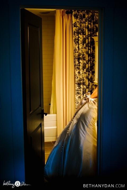 The bride gets ready