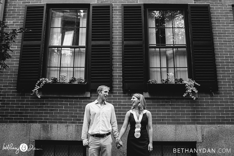 Beacon Hill Engagement Photo
