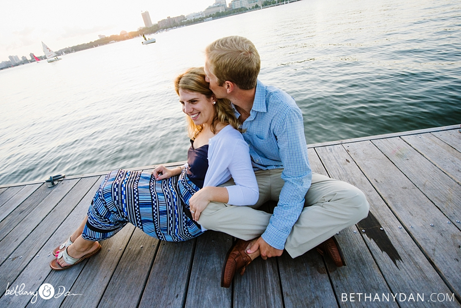 Charles River Esplanade Engagement Photo