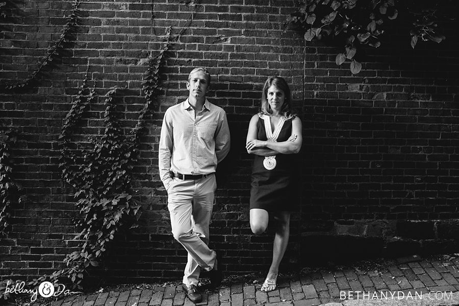 Acorn Street Boston Engagement Session