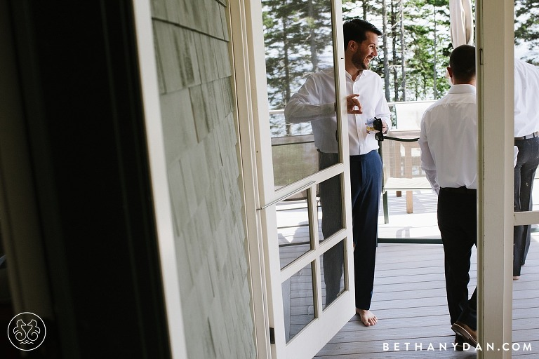 Orrs Island Maine Private Property Wedding