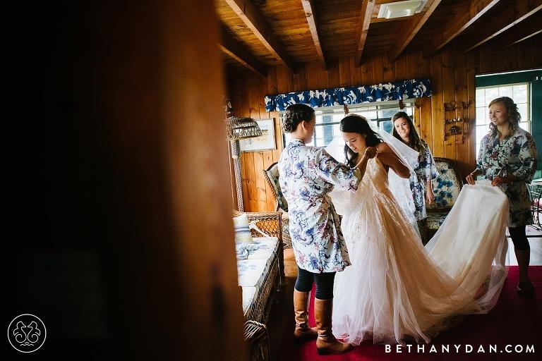 Maine Lake Cabin Wedding