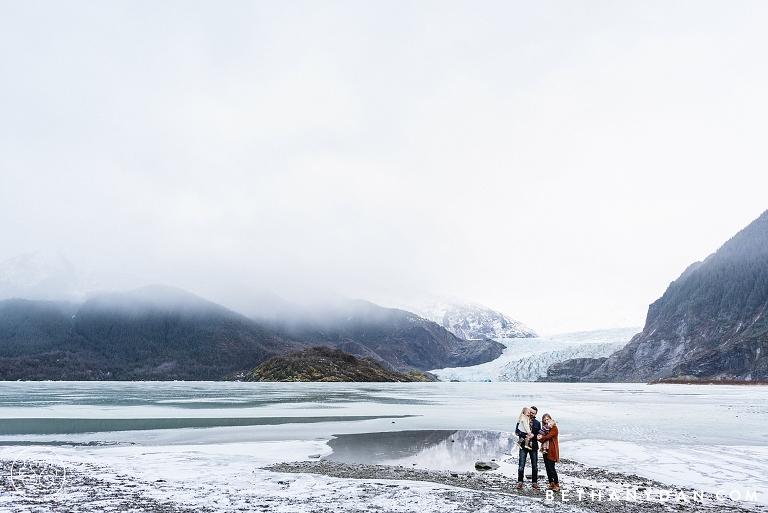 Family Portraits at Mendenhall Glacier