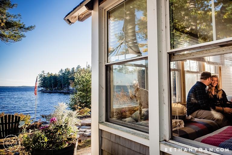 Sebago Lake Maine Engagement Session