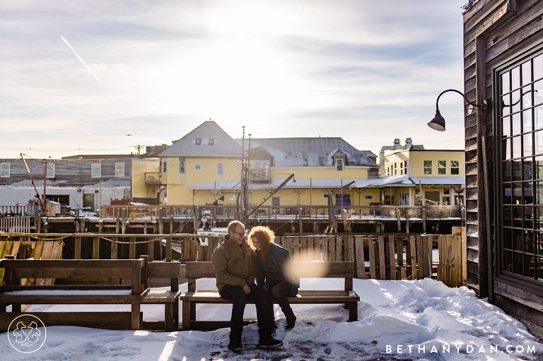 Winter Maine Engagement Session