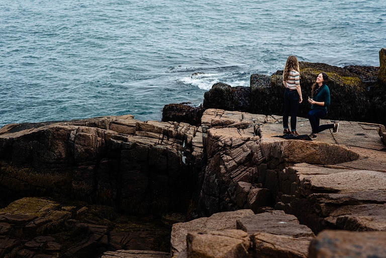 Gay Engagement Session in Acadia